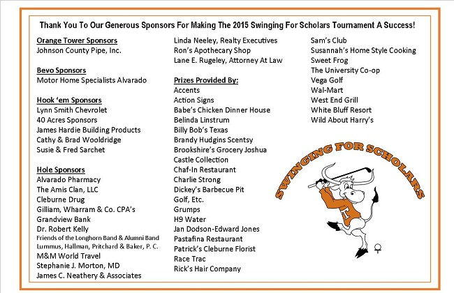 Swinging for Scholars Thank You