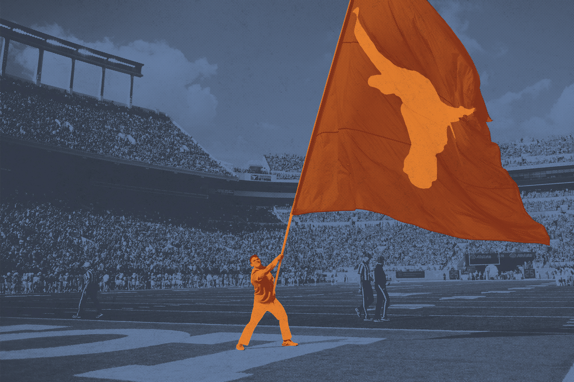 Waving the Longhorn flag