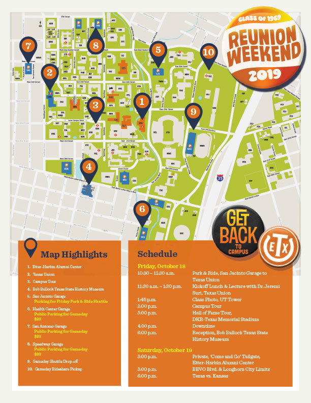 Campus Map, What to See and Do
