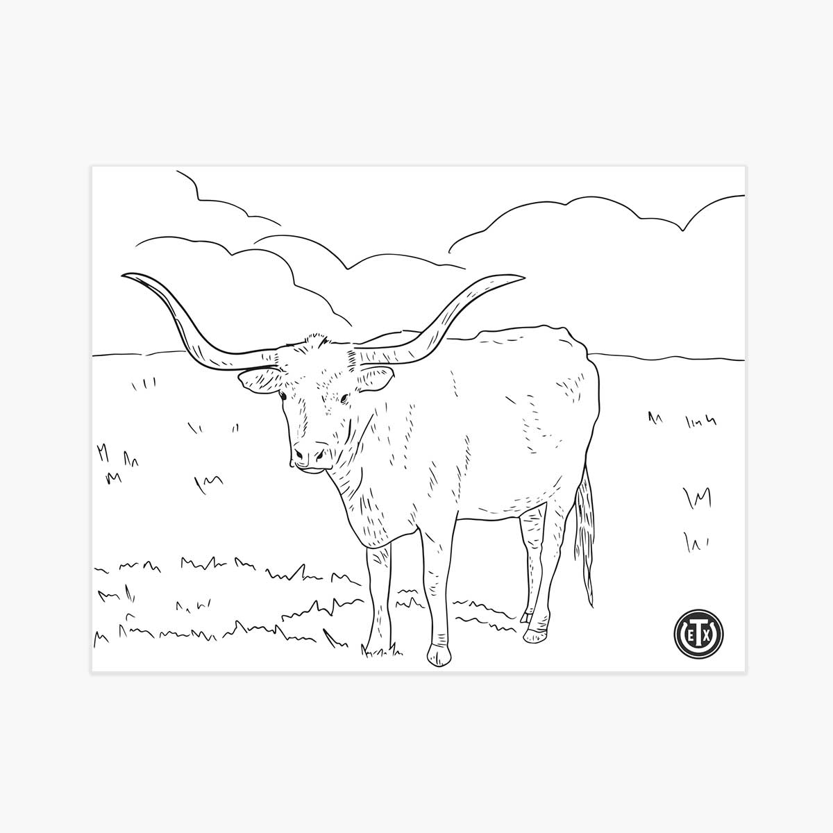 Coloring Pages - Longhorn