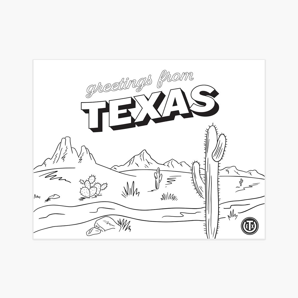 Coloring Pages - Postcard