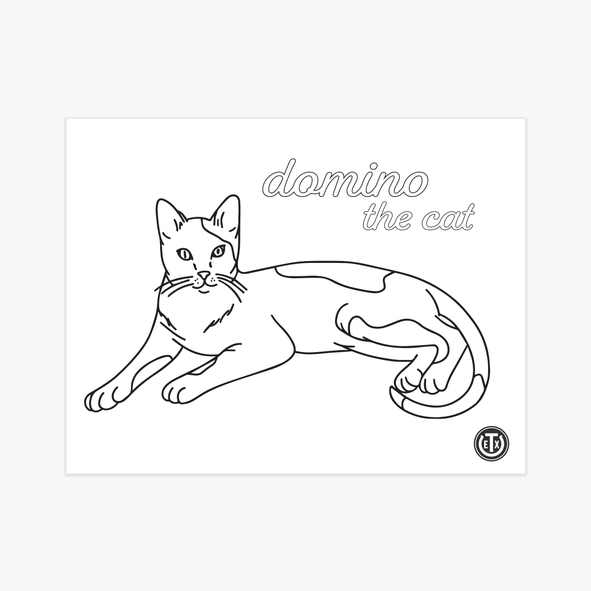 Coloring Pages - Domino the Cat