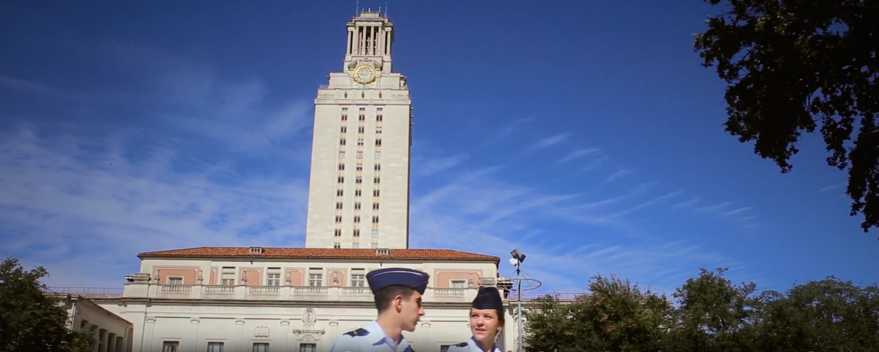 ROTC in front of UT tower