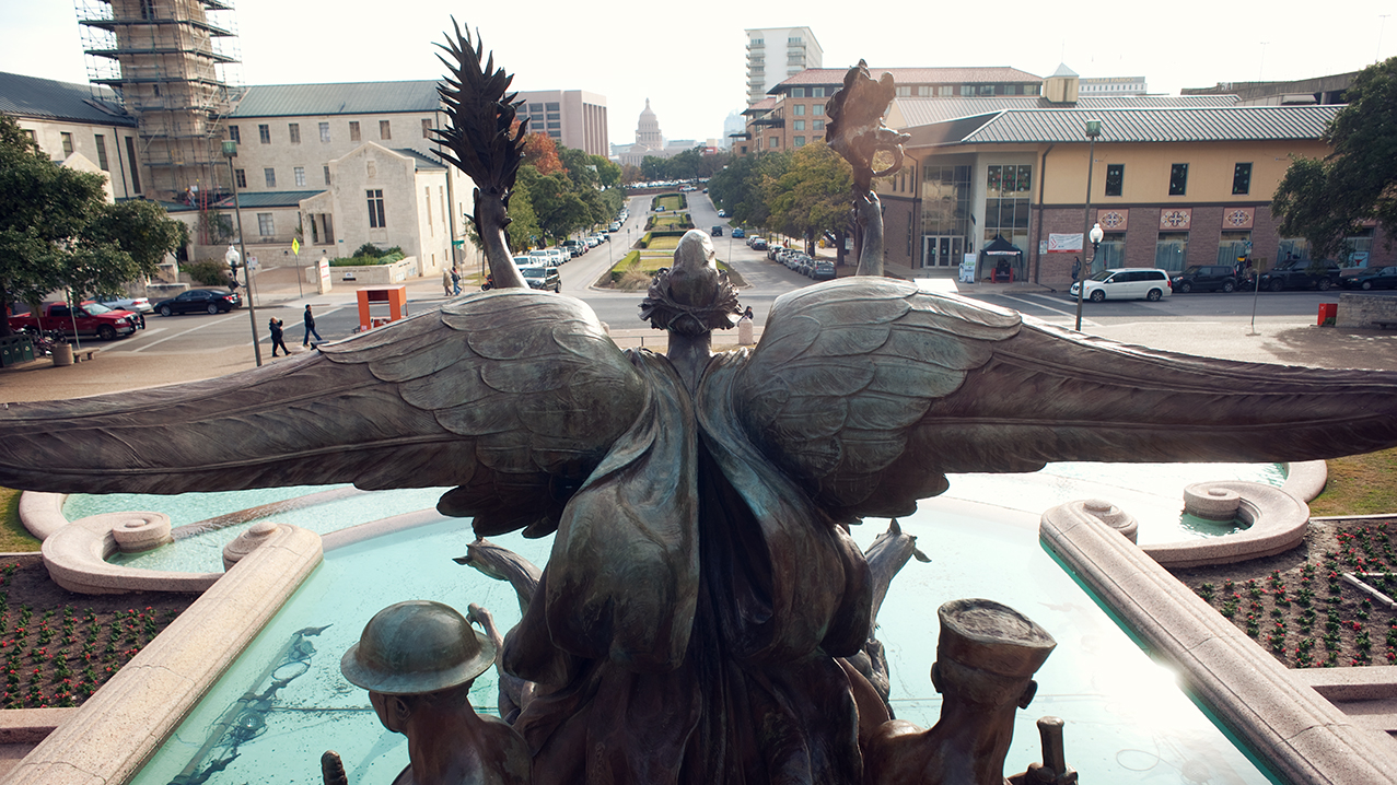 Littlefield Fountain Statue Back