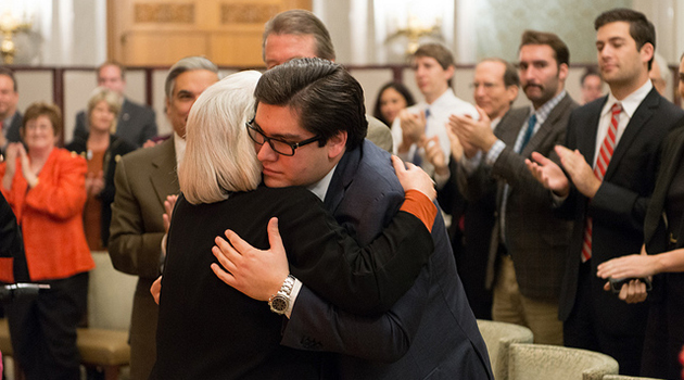 Carlos Zaffirini Jr. and Mom